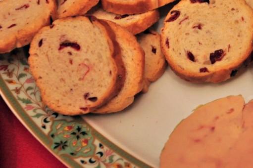 Menu nochevieja - 3 Foie de pato con pan de uvas