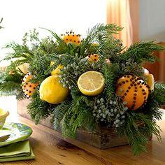 centro mesa navideño