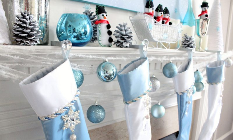 manualidades navideñas con nieve artificial