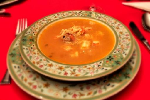 menu nochevieja - 1 sopa de marisco