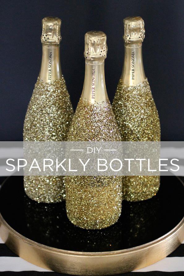 nochevieja botellas dorado