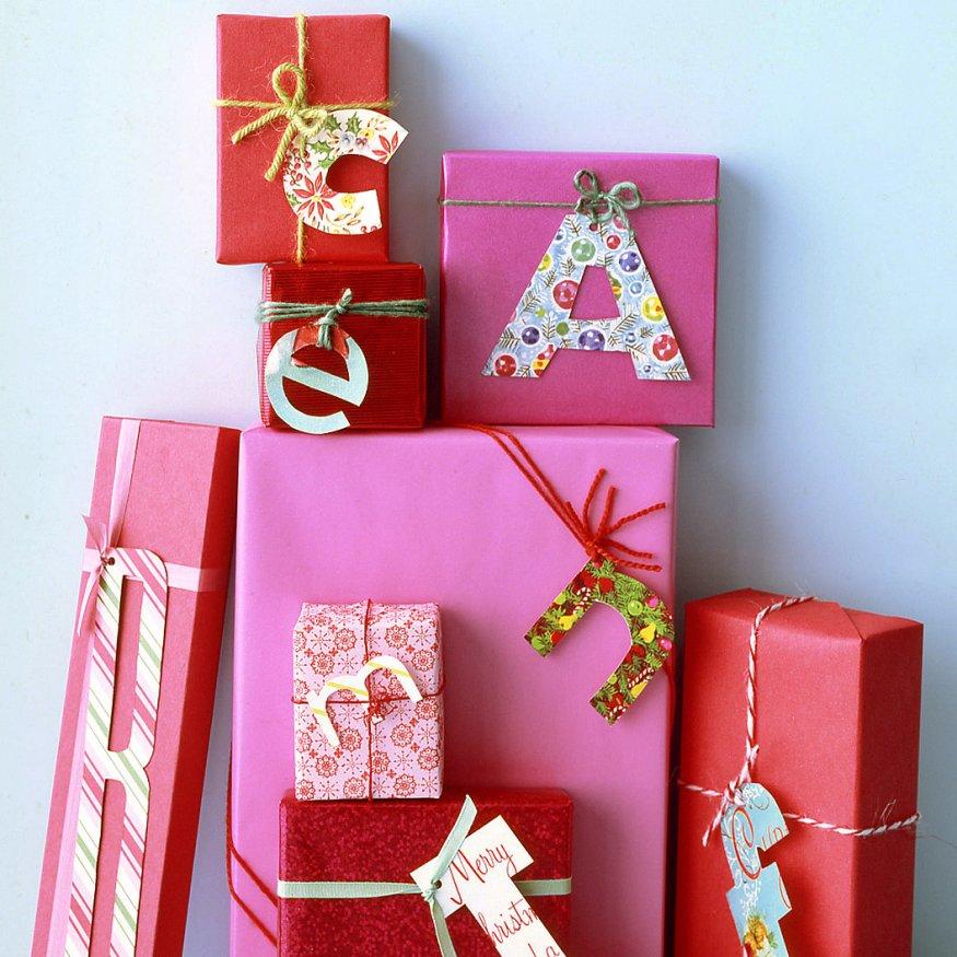 regalos de navidad con letras