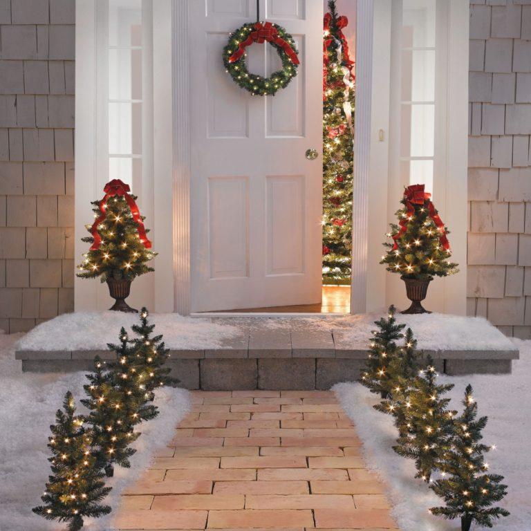 Decoración navideña 2016 para el jardín