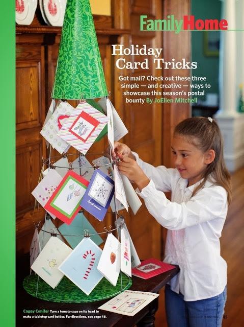 4dd4979d9b6 Dónde colgar las postales navideñas  Idea para hacer un árbol de alambre