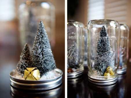 decorar con botes de cristal