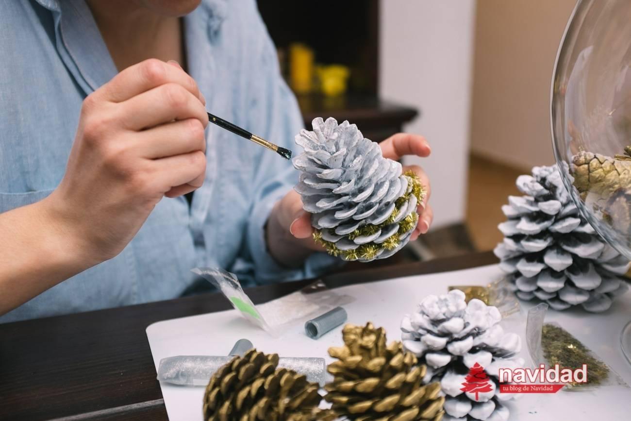 Reciclar Pinas Para Decorar En Navidad Navidad Tu Revista Navidena - Manualidades-centros-de-navidad