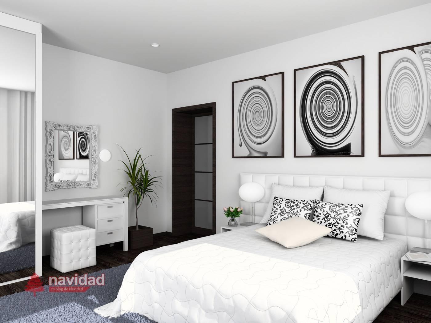 Habitación en blanco confortable