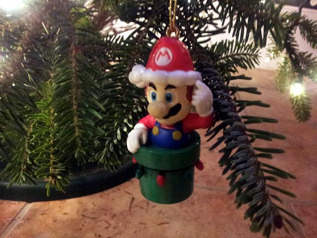 Adornos de videojuegos para esta Navidad