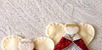 ángeles de fieltro para decorar