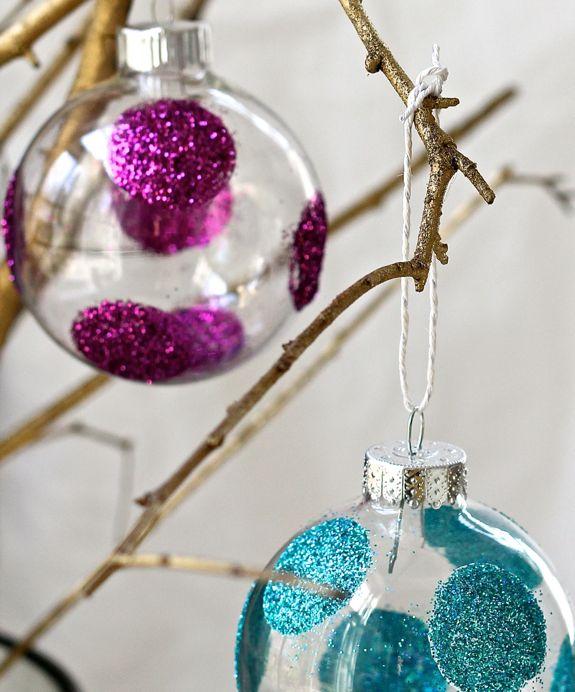 Bolas de navidad con purpurina - Manualidades de bolas de navidad ...