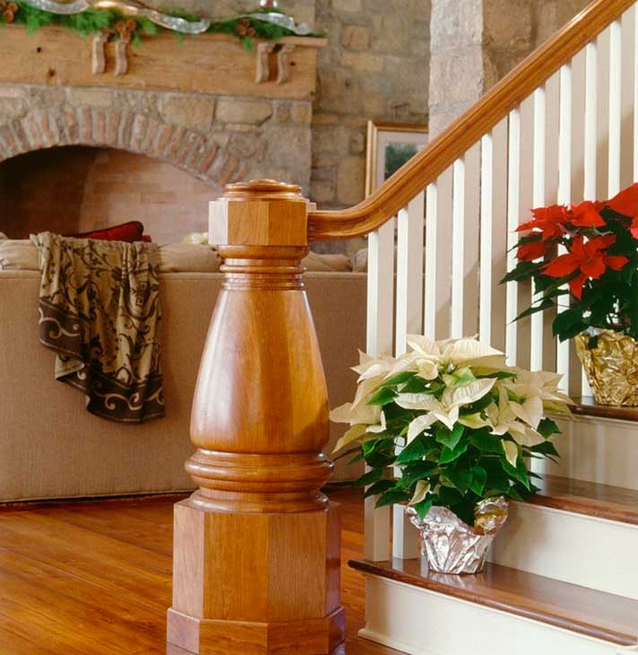decorar escaleras en Navidad 3 - decorar escalones