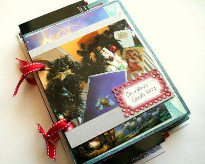 libro para tarjetas navideñas