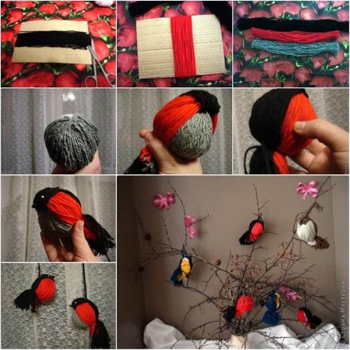 pájaros de lana