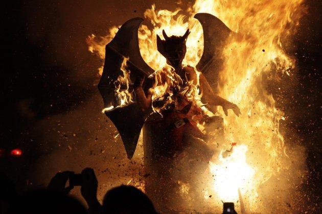 quema del diablo en Guatemala