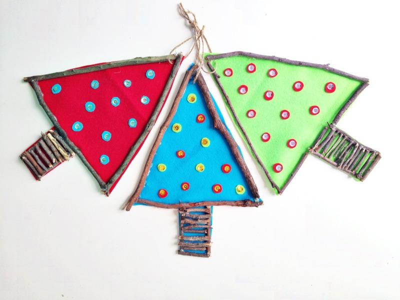 Árboles de Navidad para hacer con niños 1