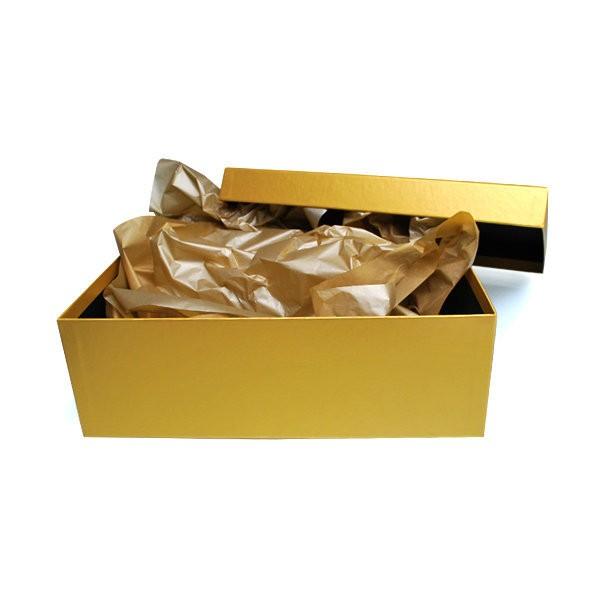 caja de regalo de navidad dorada 2