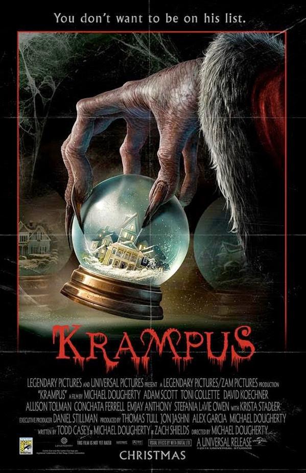 cartel oficial de krampus maldita navidad