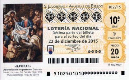 billete de lotería de navidad