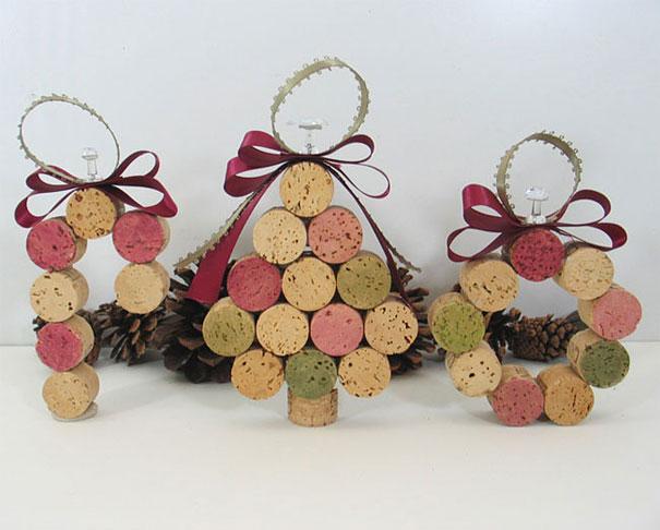 Ideas para decorar en Navidad decoración con corcho