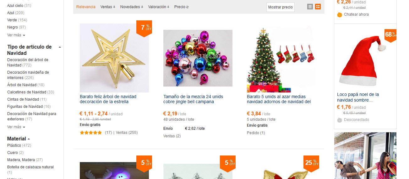 adornos de Navidad online