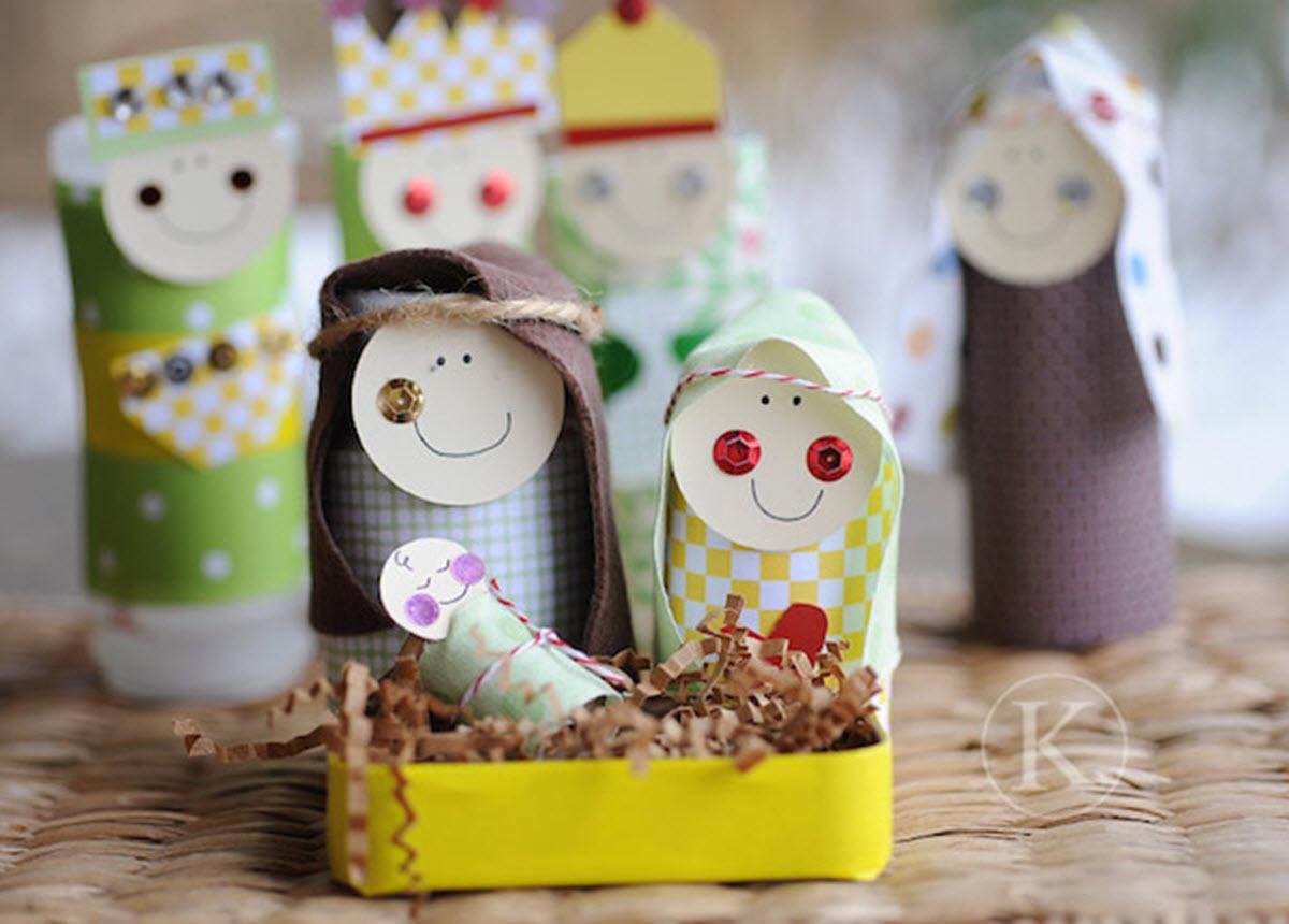 manualidades infantiles navideñas - belenes