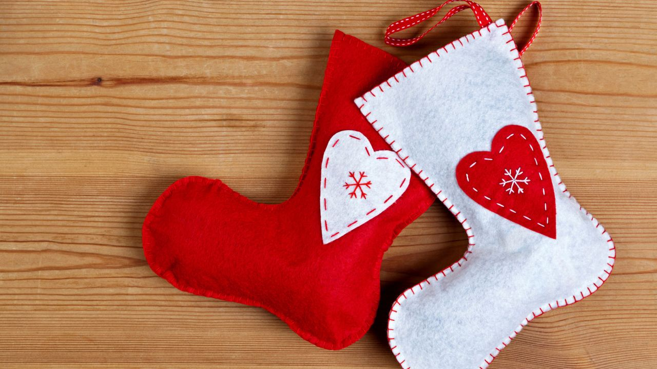 Manualidades Navideñas Calcetines De Navidad De Fieltro