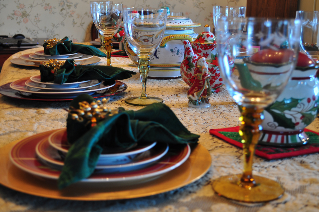 Decorar la mesa en Navidad