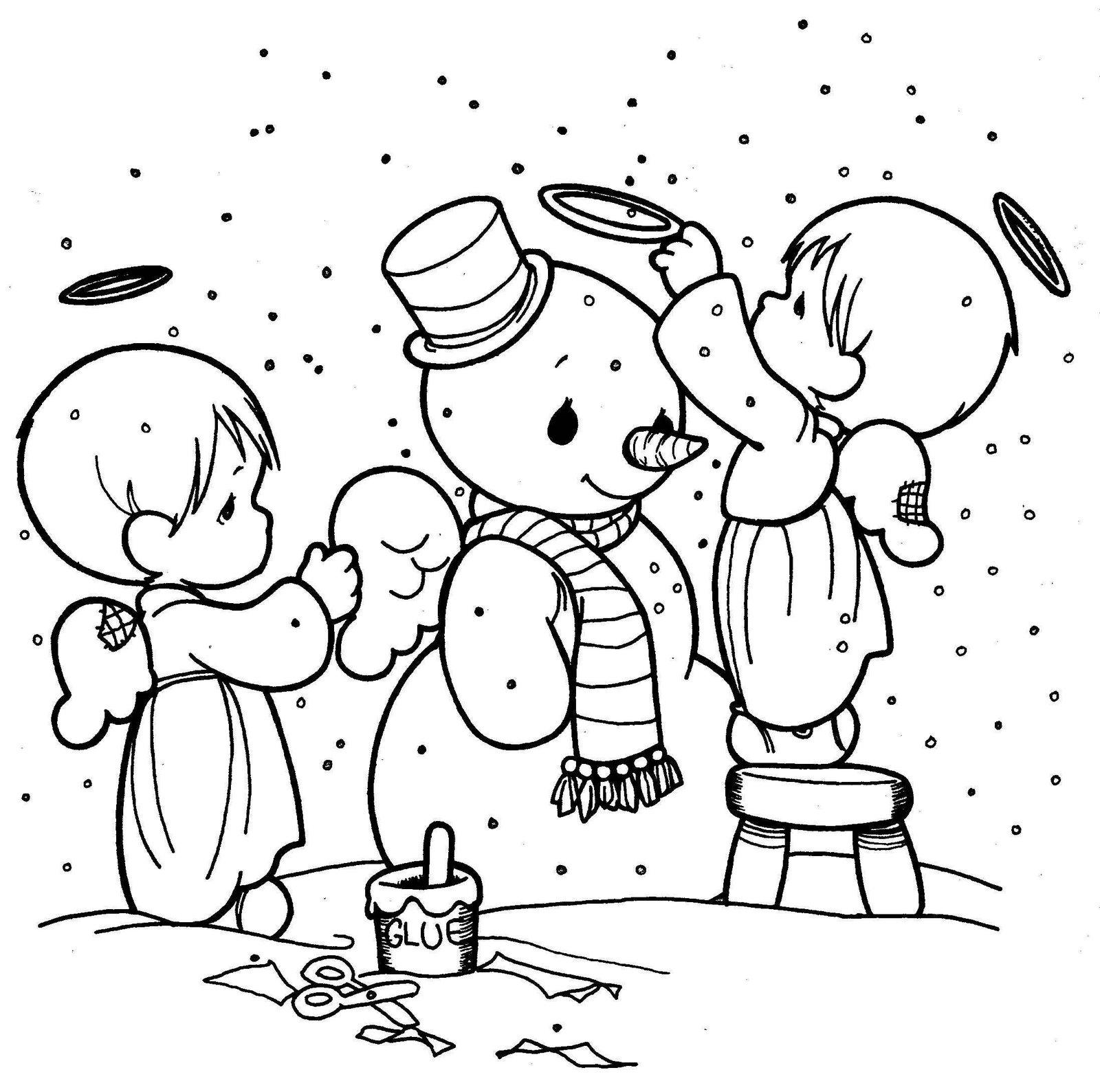 Dibujos para colorear de la navidad para ninos