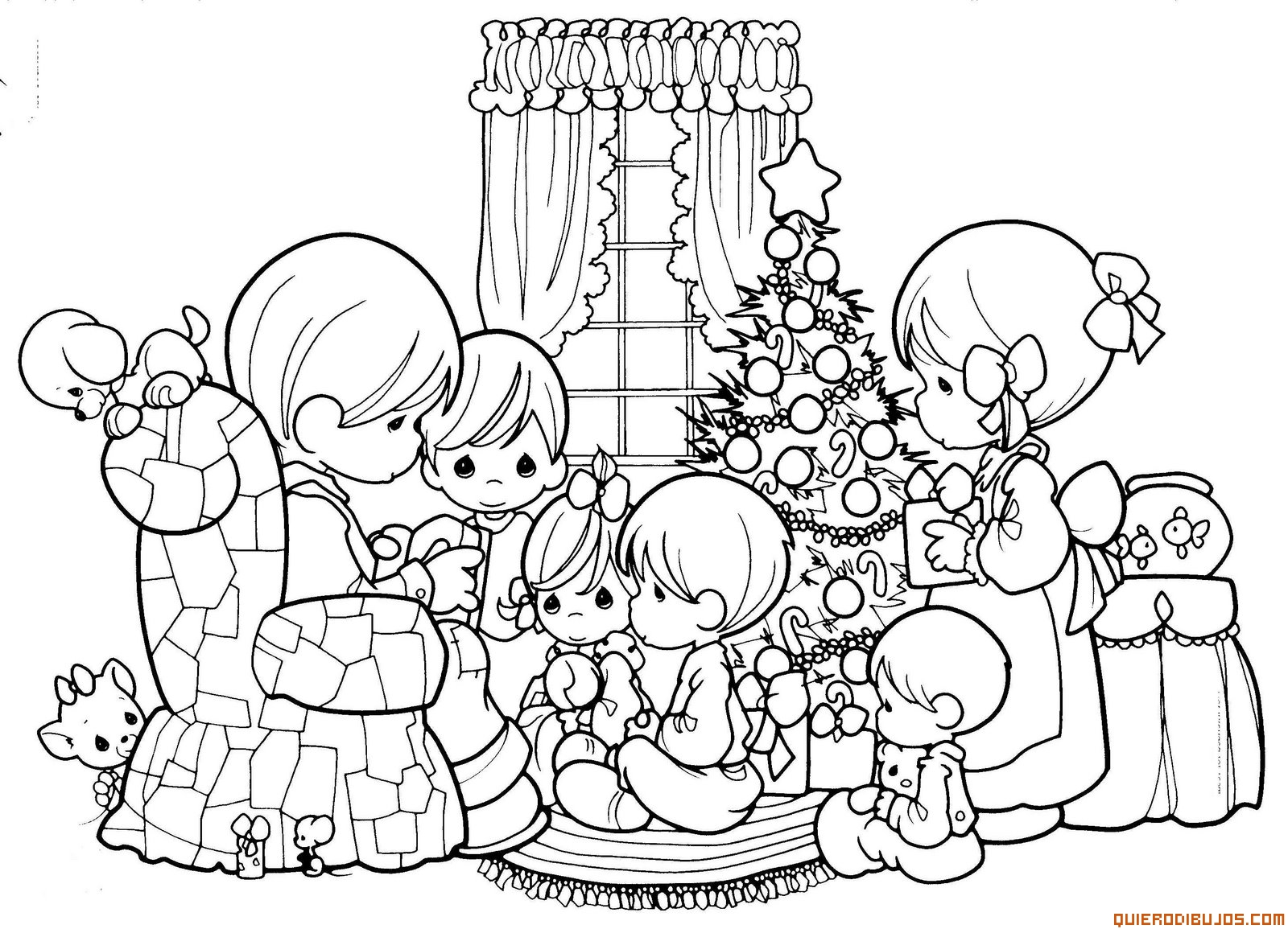Imagenes De Niños Para Colorear Animados: Dibujos De Navidad Para Colorear De Niños