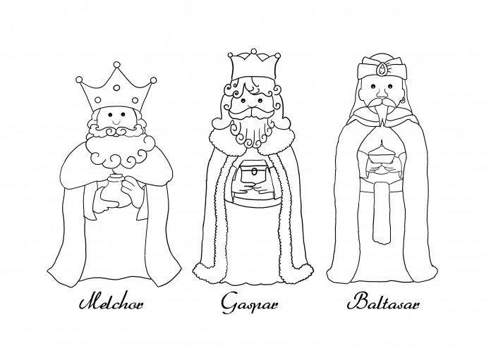 10 dibujos de Reyes Magos para colorear