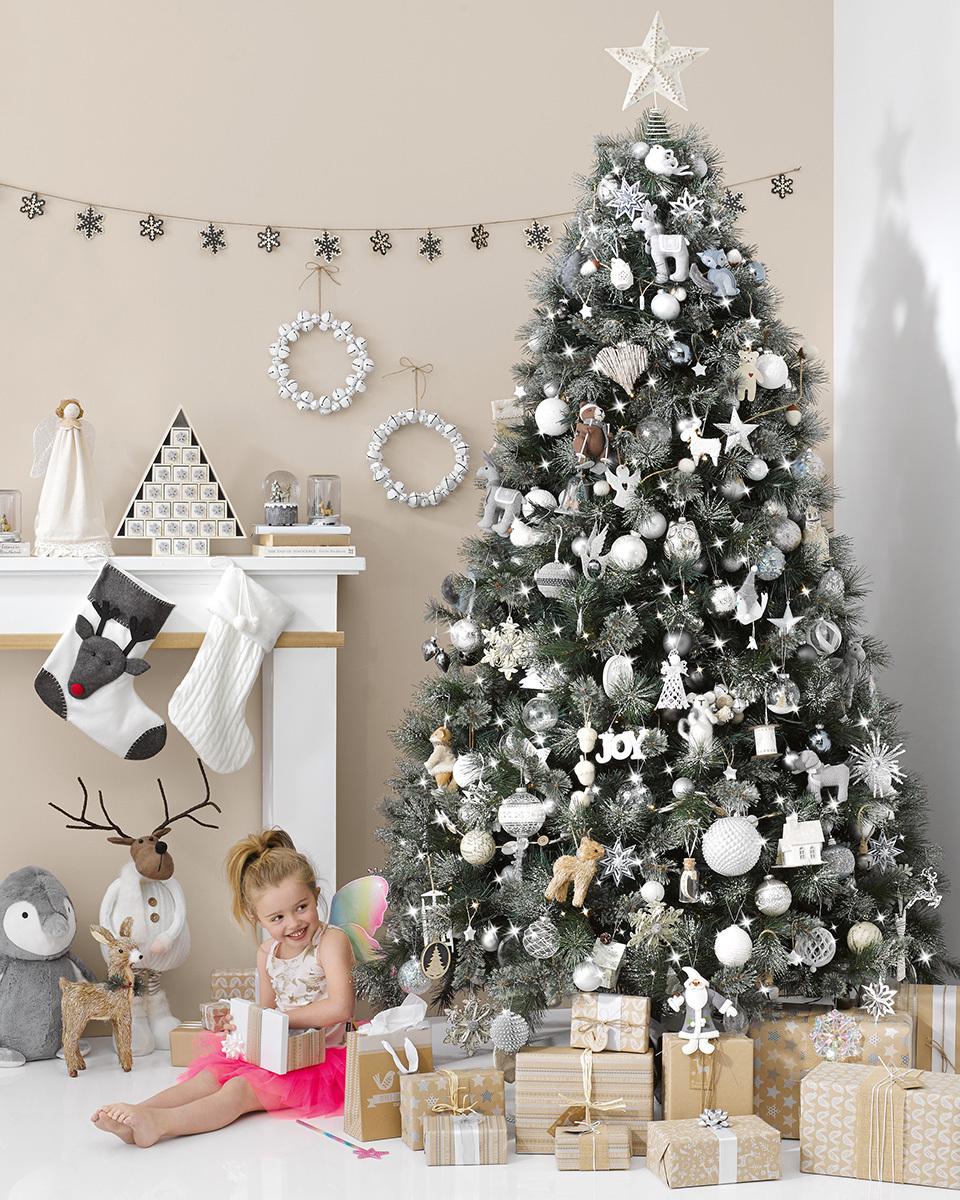 decorar el árbol de Navidad arbol de navidad gris