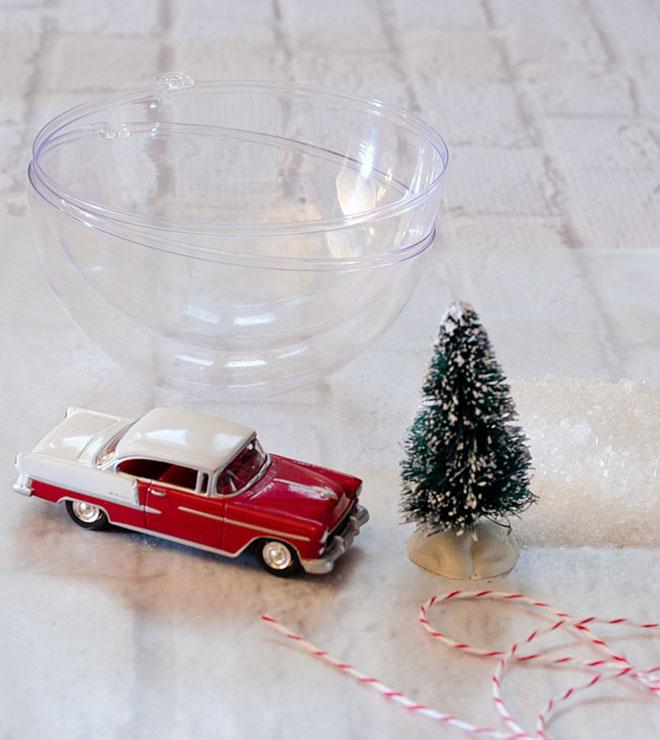 decorar con bolas de Navidad bola vintage materiales