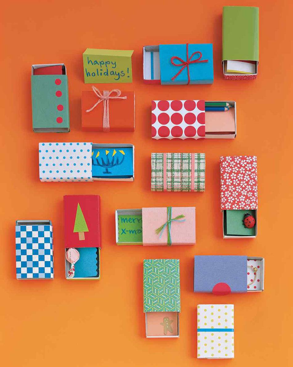 manualidades infantiles de Navidad cajas de cerillas