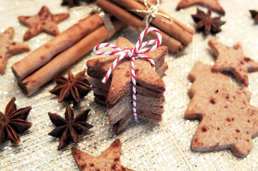 hacer galletas de Navidad galletas terminadas