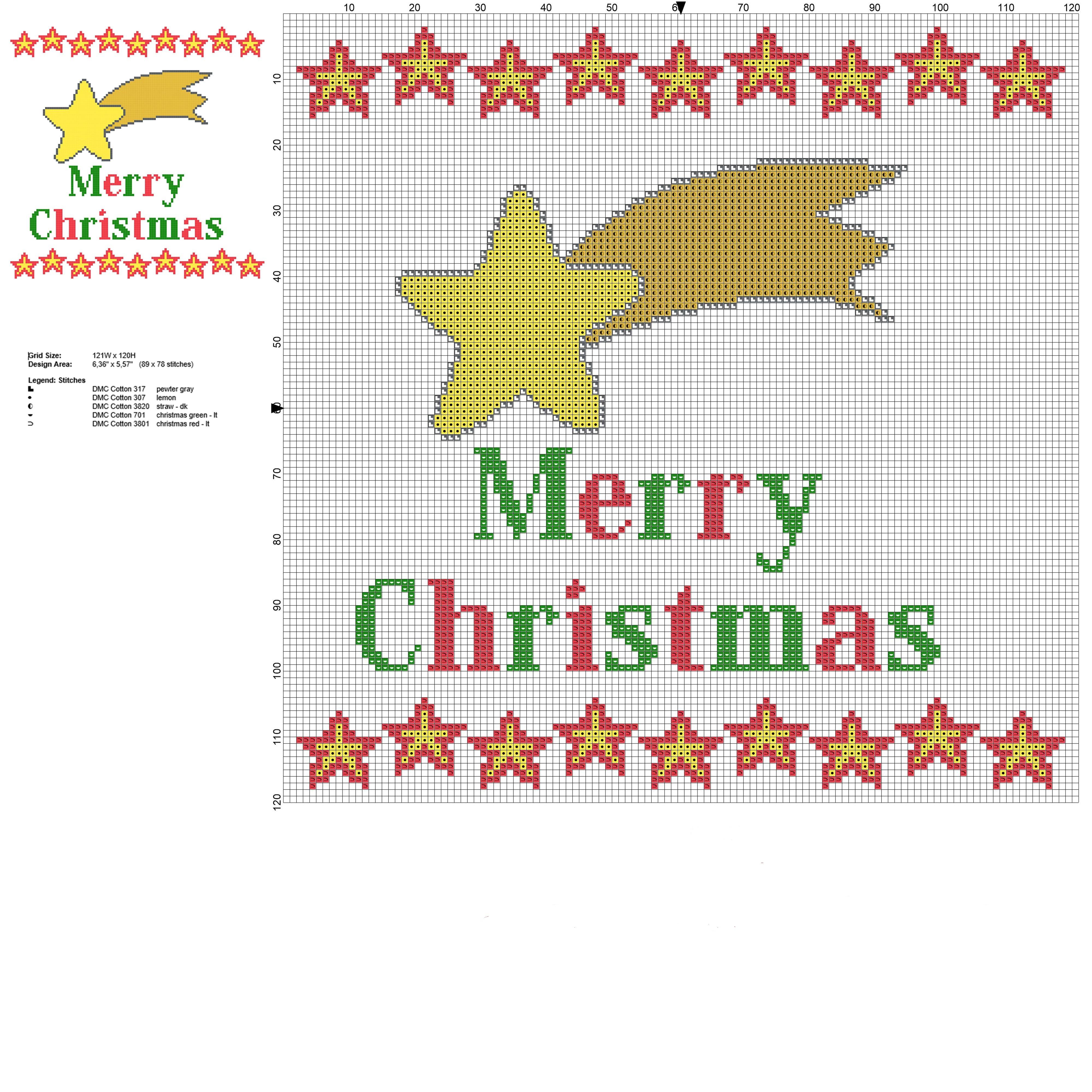plantillas en punto de cruz para Navidad