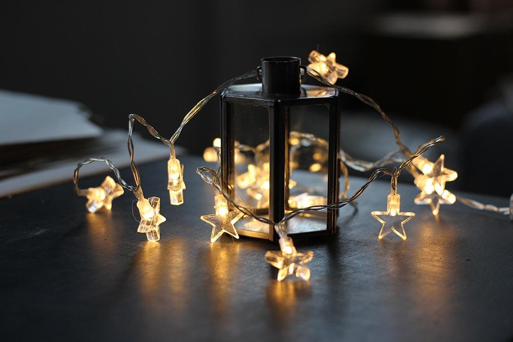 originales luces de Navidad - AprilandtheBearguirnalda estrellas