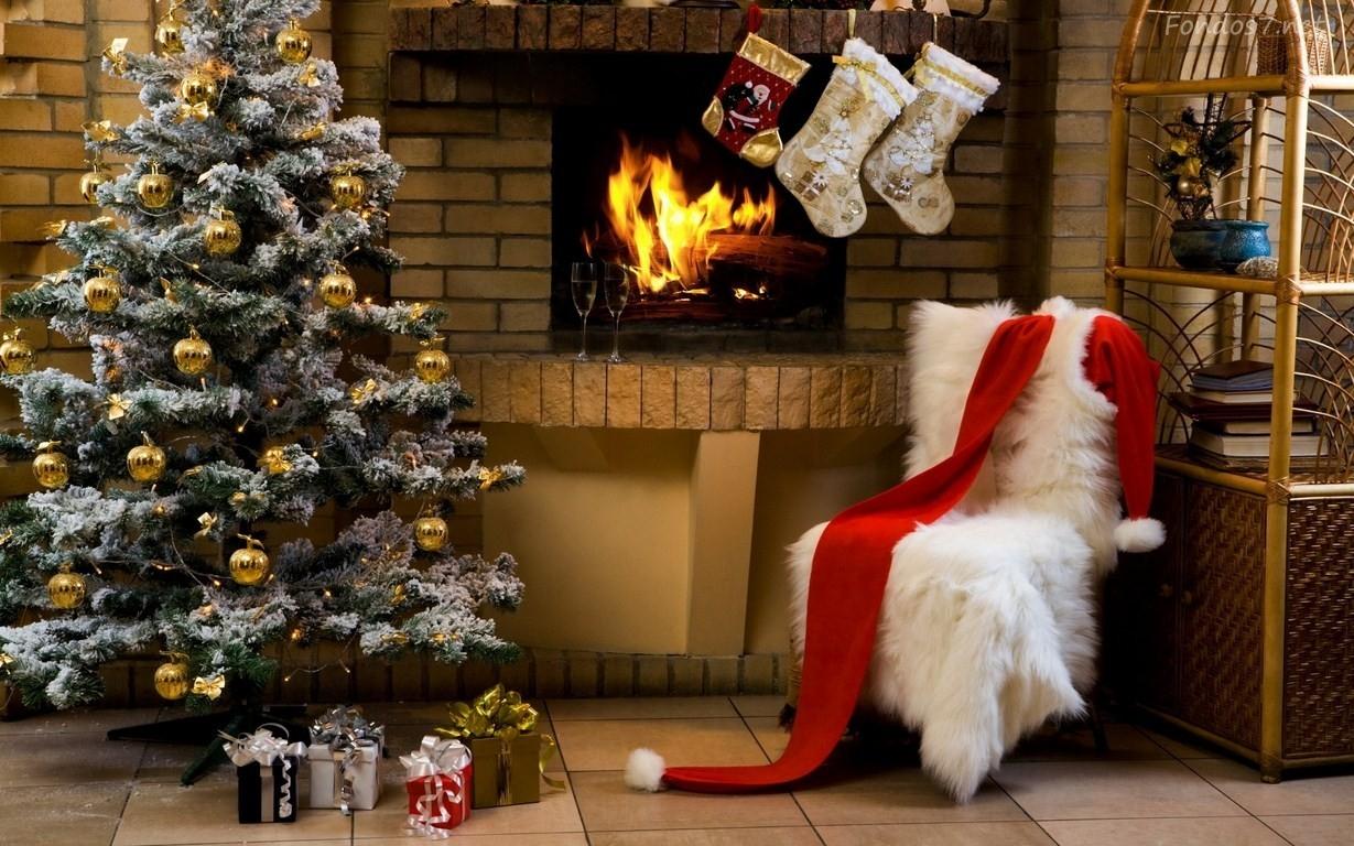 Chimeneas navideñas