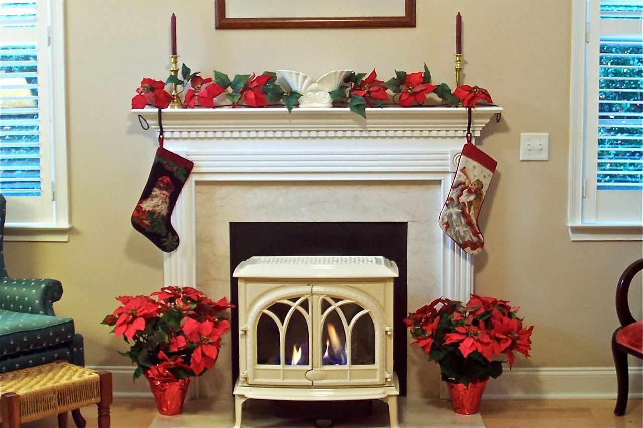 Chimeneas navideñas - decoración navideña