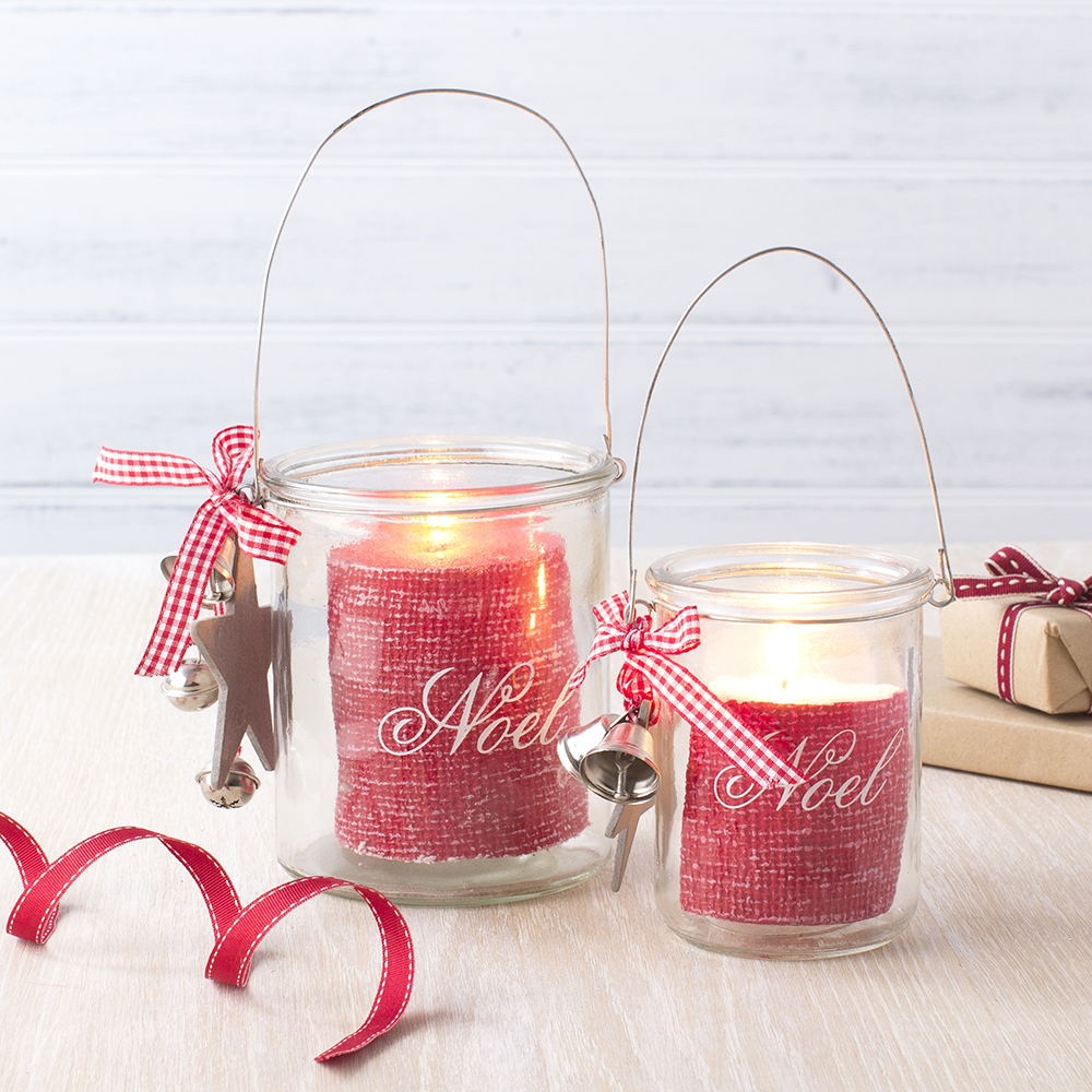 originales luces de Navidad - luces de Navidad TCH candeleros noel