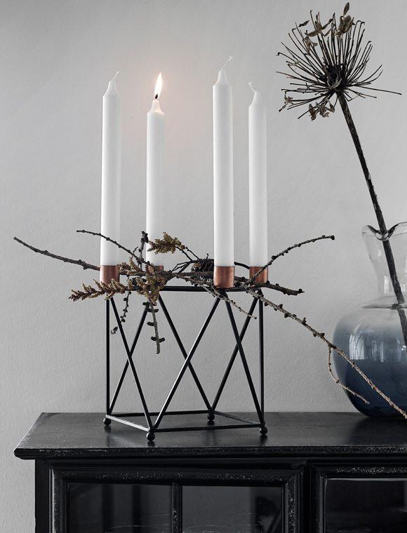 decorar las mesas auxiliares car mobel candelabro