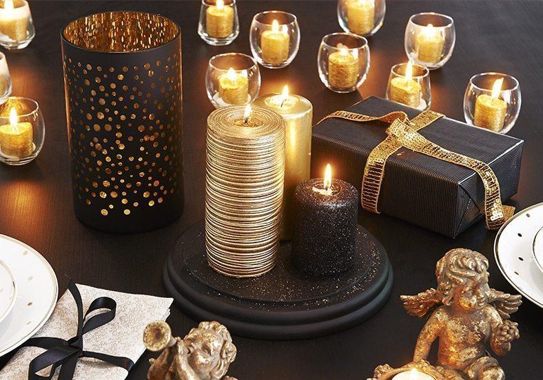 decorar las mesas auxiliares velas maisons