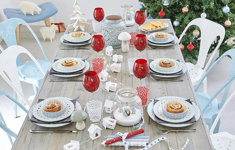 Navidad de estilo nórdico mesa nordica maisons
