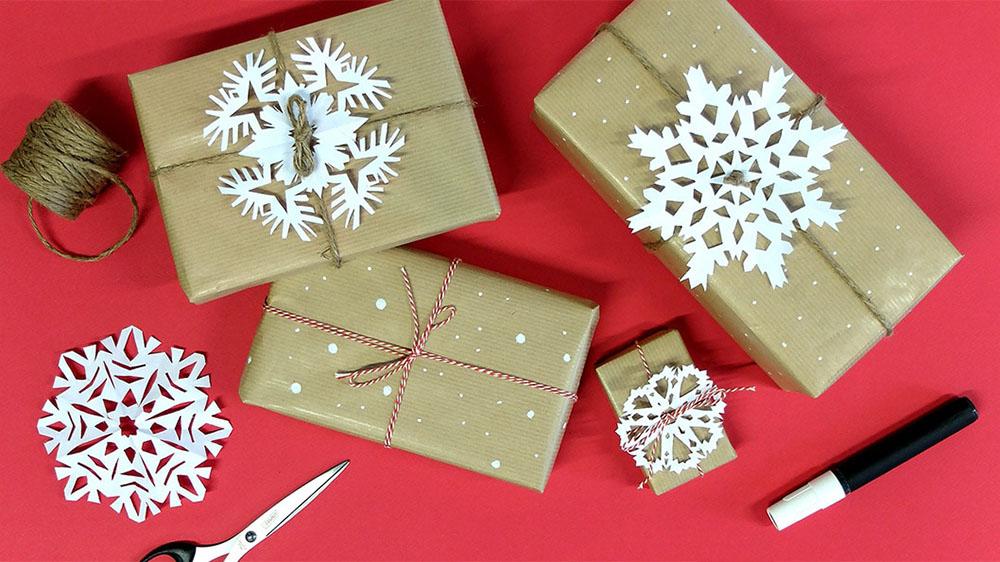 envolver regalos paquete copos maisons