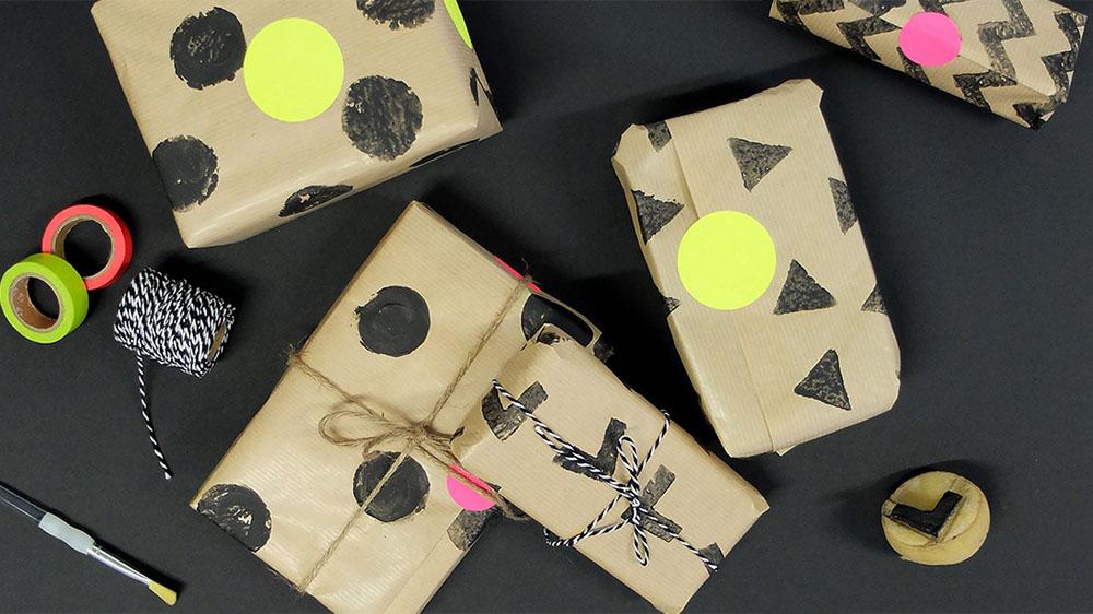 envolver regalos paquete grafico maisons