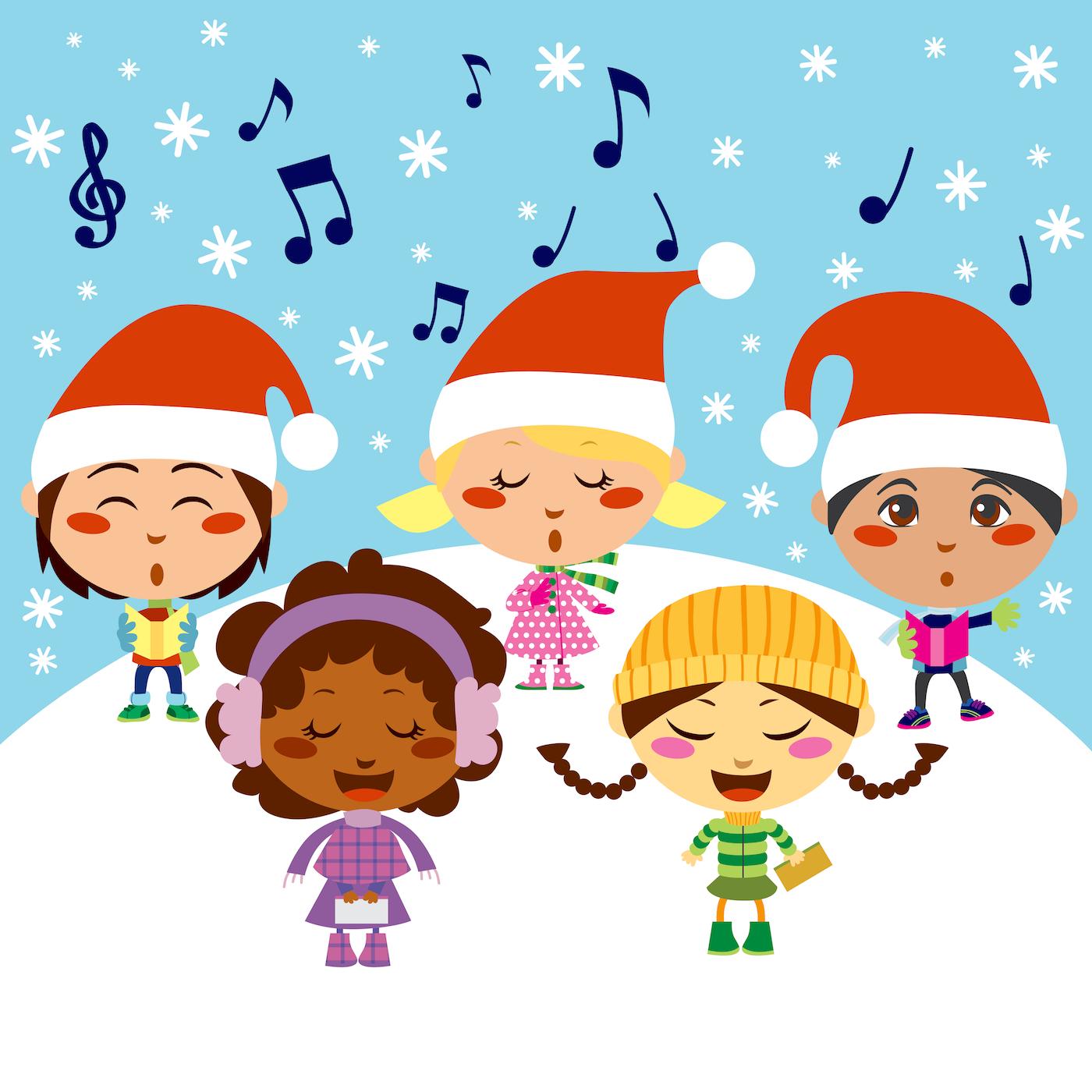 pequenos cantando villancicos - música de Navidad
