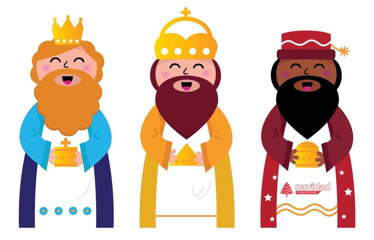 reyes magos vectorial