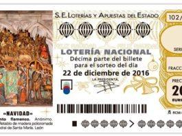 Décimo de Lotería de Navidad 2016