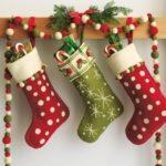 calcetín navideño personalizado con fieltro