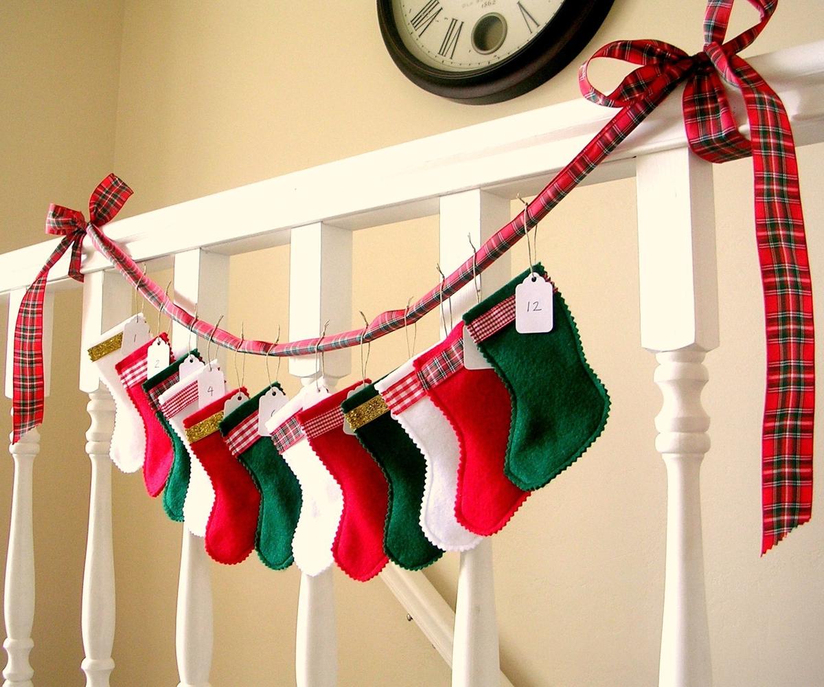 calcetín navideño personalizado en varios tonos