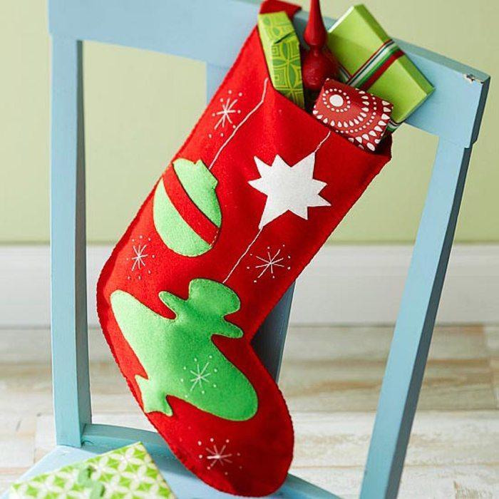 calcetín navideño personalizado - en color rojo